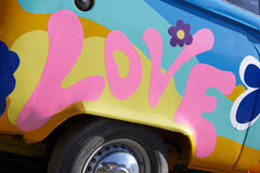 Love graffiti on a vehicle Stock Photos