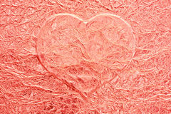 Pink love heart background Stock Images