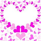 Pink Love Heart Frame Stock Photos