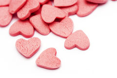 Pink love hearts Stock Image