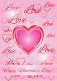 Pink love illustration Royalty Free Stock Image