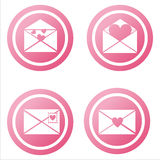 Pink love letters signs Stock Images