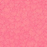 Pink love seamless Royalty Free Stock Photos