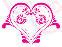 Pink love tattoo illustration Royalty Free Stock Photos