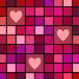 Pink Love Tiles Royalty Free Stock Photos