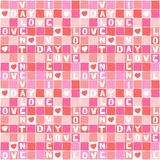 of pink love valentine puzzle with white square pattern Stock Photos