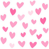Pink lovehearts seamless patte stock illustration