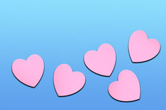 Pink lovely hearts Royalty Free Stock Images