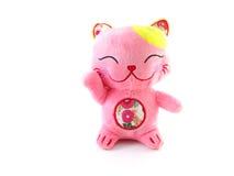 Pink lucky cat Royalty Free Stock Photos