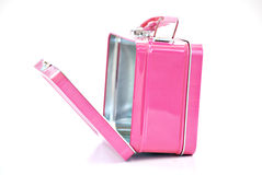 Pink lunchbox royalty free stock photo