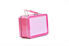 Pink lunchbox royalty free stock images