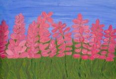 Pink lupins Stock Photo