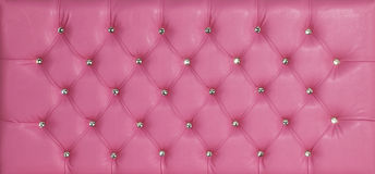 Pink luxury leather diamond studded background Stock Photos