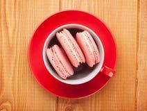 Pink macaron cookies Stock Photo