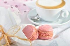 Pink macarons Royalty Free Stock Image