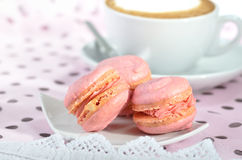 Pink macarons Royalty Free Stock Photos