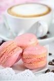 Pink macarons Stock Photo