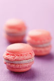Pink macarons Royalty Free Stock Photography