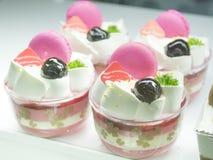 Pink macarons  cup cake Royalty Free Stock Photo