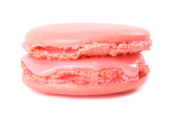 Pink macaroon. Isolated on white background Royalty Free Stock Images