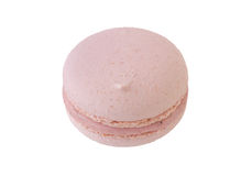Pink Macaroon isolated on white. Background royalty free stock photo