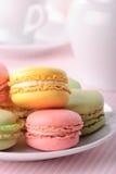 Pink macaroones Stock Images