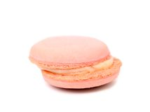 Pink macaroons cake. Close up. Royalty Free Stock Photo