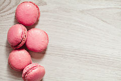 Pink macaroons french sweets stack Royalty Free Stock Image