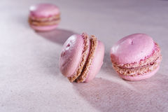 Pink macaroons Stock Images