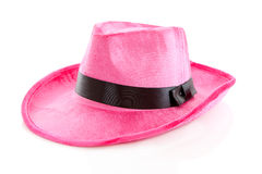 Pink mafia hat. Over white background Stock Image