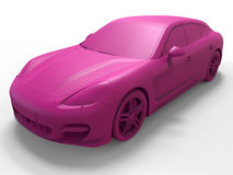 Pink magenta sports car Royalty Free Stock Photo