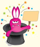 Pink magic bunny rabbit Stock Images