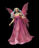 Pink Magic CA. A magical fairy in a pink dress Royalty Free Stock Images