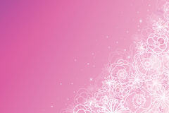 Pink magical flowers glowing horizontal background Royalty Free Stock Image