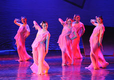 Pink Maid-The dance drama The legend of the Condor Heroes Stock Photography