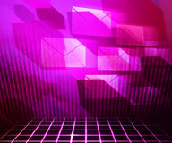 Pink Mail Abstract Background. Image Stock Images