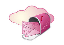 Pink mailbox Royalty Free Stock Photo