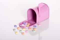 Pink mailbox Royalty Free Stock Image