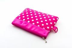 Pink makeup bag. Stock Photos