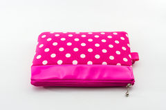 Pink makeup bag. Stock Photo