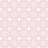 Pink Mandala Flower Pattern Seamless stock illustration