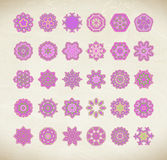 Pink mandala set Royalty Free Stock Photo