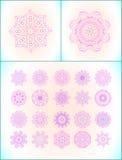 Pink mandala set Stock Images