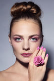 Pink manicure Royalty Free Stock Photography