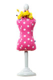Pink mannequin pin cushion Royalty Free Stock Images