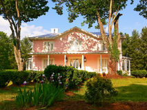 Pink mansion. An big pink mansion in an park in the green hills of Virginia Stock Images