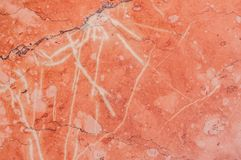 Pink marble surface. For background Royalty Free Stock Photo