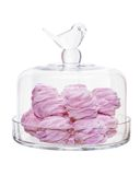 Pink marshmallow glass bowl isolated on white Royalty Free Stock Image