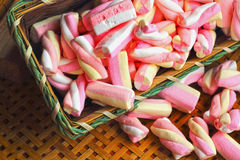Pink Marshmallows Stock Photography
