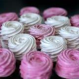 Pink marshmallows background Royalty Free Stock Photos